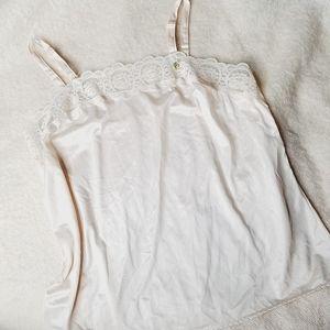 Vintage 70s lace trim camisole
